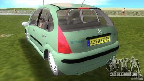 Citroen C3 para GTA Vice City deixou vista