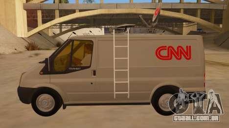 Ford Transit CNN para GTA San Andreas esquerda vista