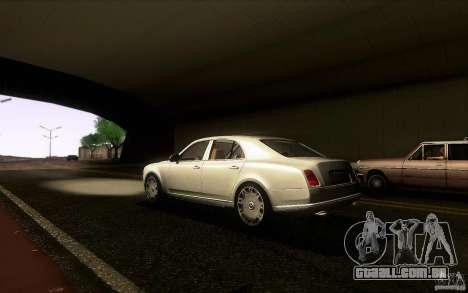 Bentley Mulsanne 2010 v1.0 para GTA San Andreas traseira esquerda vista