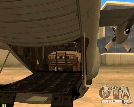 C-130 hercules para GTA San Andreas vista superior