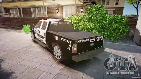 Ford F350 Marked [ELS] para GTA 4 traseira esquerda vista
