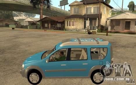 Dacia Logan Steppe Concept para GTA San Andreas esquerda vista