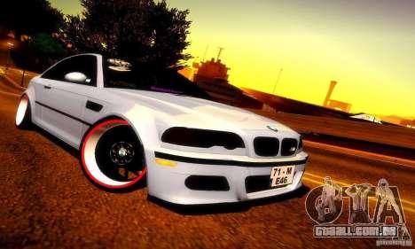 BMW M3 JDM Tuning para GTA San Andreas esquerda vista