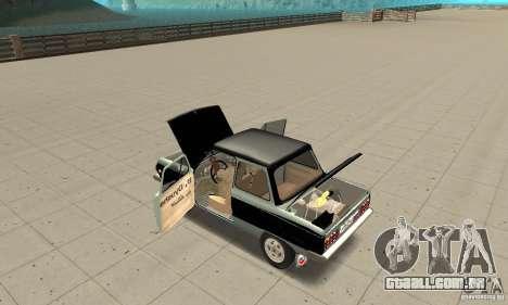 ZAZ 968M versão 1.0 para GTA San Andreas vista interior
