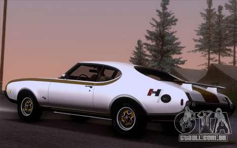 Oldsmobile Hurst/Olds 455 Holiday Coupe 1969 para GTA San Andreas esquerda vista