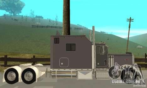Peterbilt 379 Custom Legacy para GTA San Andreas traseira esquerda vista
