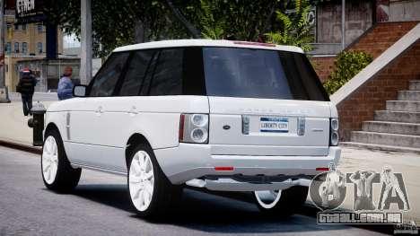 Range Rover Supercharged 2009 v2.0 para GTA 4 traseira esquerda vista