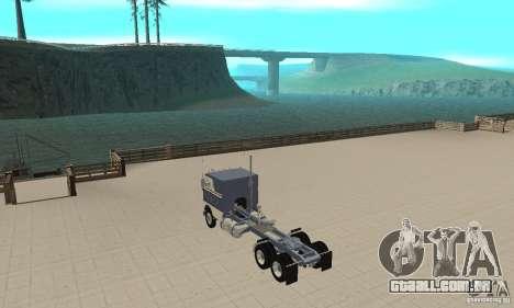White Freightliner Extended Wheel Base para GTA San Andreas traseira esquerda vista