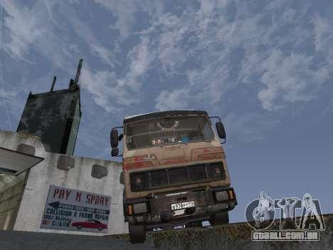 5551 MAZ Kolkhoz para GTA San Andreas vista traseira