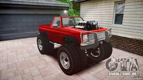 MonsterTruck para GTA 4 vista direita