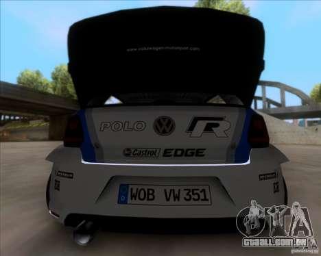 Volkswagen Polo WRC para GTA San Andreas vista direita