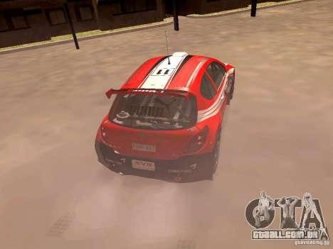 Peugeot 207 S2000 Puma para GTA San Andreas traseira esquerda vista