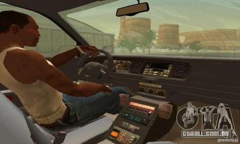 Ford Crown Victoria West Virginia Police para GTA San Andreas traseira esquerda vista