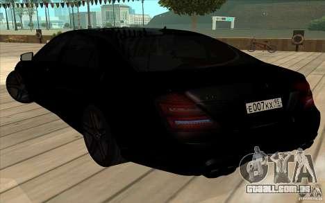 Mercedes-Benz S65 AMG com luzes piscando para vista lateral GTA San Andreas