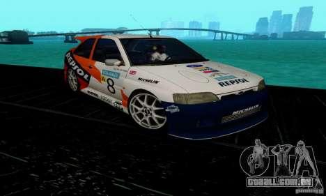 Ford Escort RS Cosworth para GTA San Andreas vista traseira