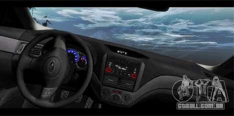 Subaru Forester XT 2008 para vista lateral GTA San Andreas