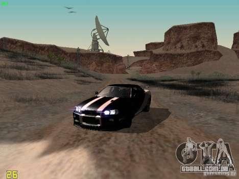 Nissan Skyline GT-R R34 V-Spec para vista lateral GTA San Andreas