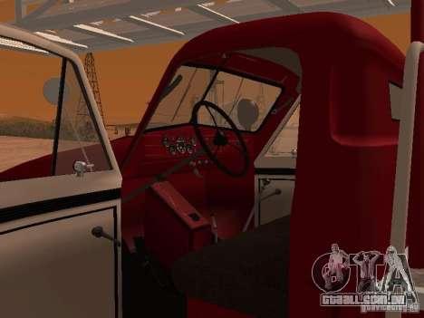GAZ-51 ALG-17 para GTA San Andreas vista interior