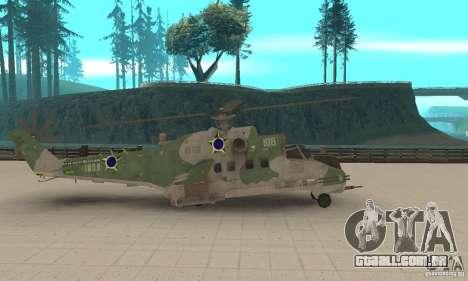Um helicóptero do conflito de Shtorm Global para GTA San Andreas esquerda vista