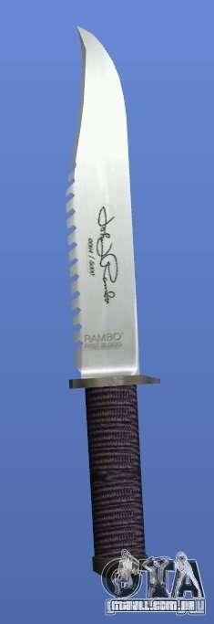 Faca Rambo com assinatura para GTA 4 por diante tela