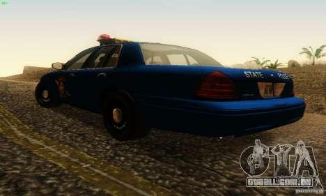 Ford Crown Victoria Michigan Police para GTA San Andreas esquerda vista