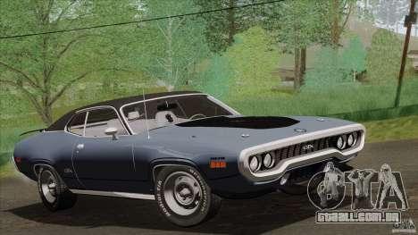 Plymouth GTX 426 HEMI 1971 para GTA San Andreas vista traseira