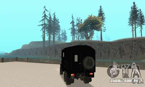 ZIL 157 para GTA San Andreas esquerda vista