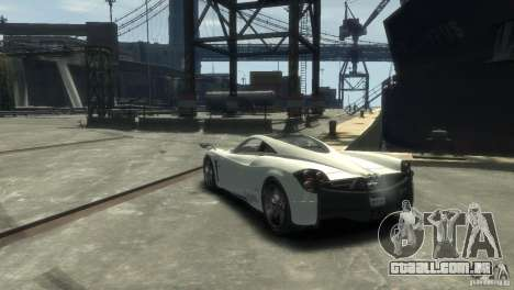 Pagani Huayra para GTA 4 vista direita