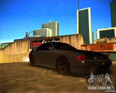 Nissan Skyline (R32) SHE para GTA San Andreas traseira esquerda vista