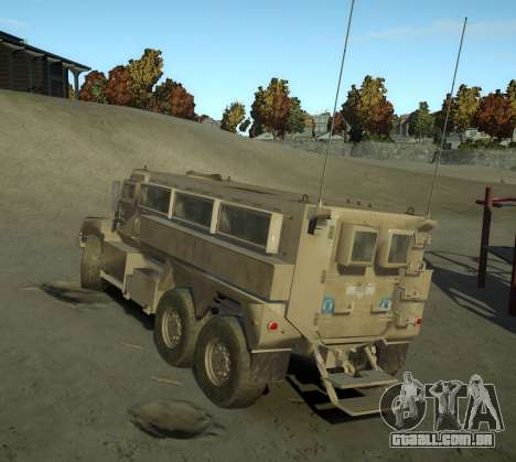 HEMTT Phalanx Oshkosh para GTA 4 esquerda vista