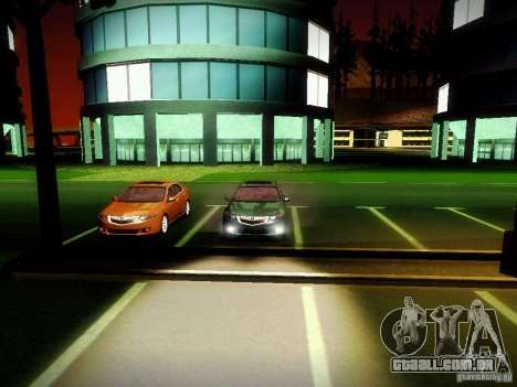 Acura TSX para GTA San Andreas vista interior