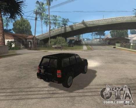 Nissan Patrol 2005 Stock para GTA San Andreas traseira esquerda vista