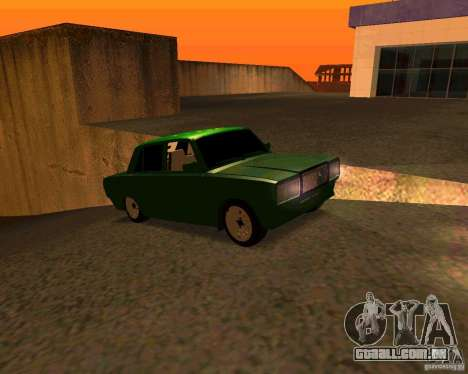 VAZ 2107 Hobo, v. 1 para GTA San Andreas vista direita
