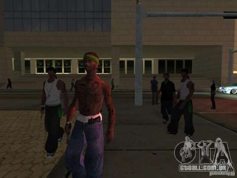 Substituir todos os skins Grove Street famílias para GTA San Andreas quinto tela