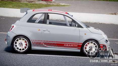 Fiat 500 Abarth para GTA 4 esquerda vista