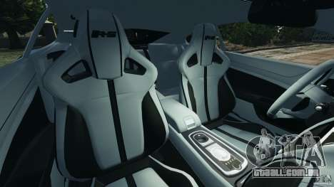 Jaguar XKR-S Trinity Edition 2012 v1.1 para GTA 4 vista interior