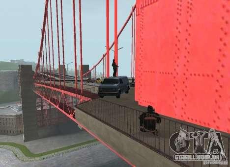 Um homem-bomba na ponte para GTA San Andreas sexta tela