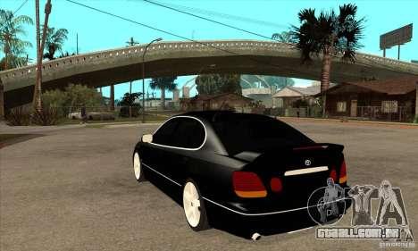 TOYOTA ARISTO 2001 ano para GTA San Andreas traseira esquerda vista