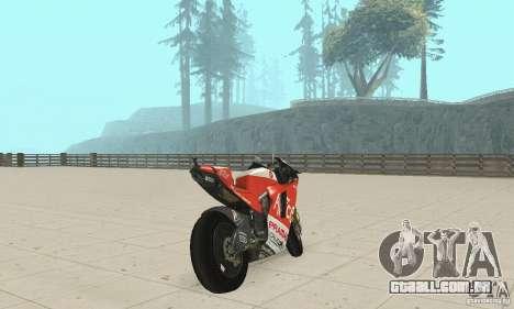 Ducati Alice GP para GTA San Andreas esquerda vista