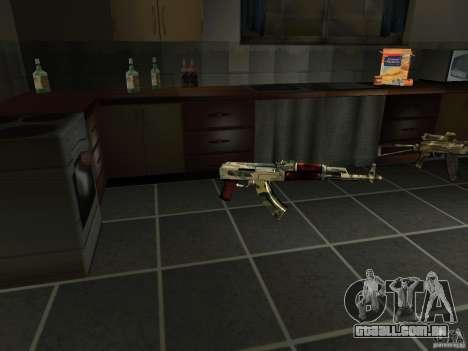 Pak versão doméstica armas 4 para GTA San Andreas quinto tela