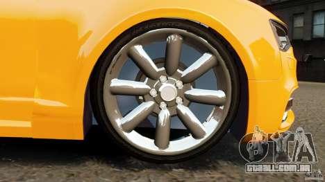 Audi A6 Avant Stanced 2012 v2.0 para GTA 4 vista superior