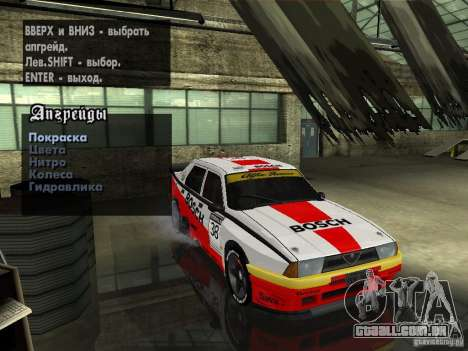 Alfa Romeo 75 Turbo Evoluzione para vista lateral GTA San Andreas