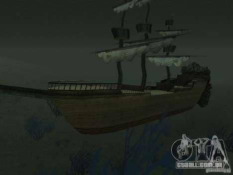 Navio pirata para GTA San Andreas sétima tela