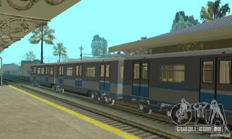 Rusich 4 trem para GTA San Andreas vista direita