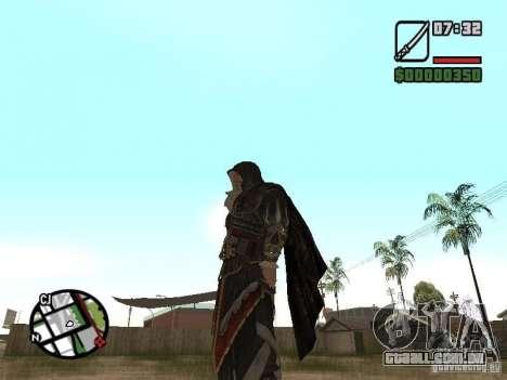 Espada Ezio para GTA San Andreas segunda tela