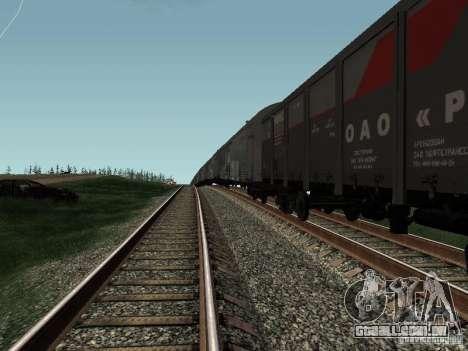 Abra RZHD JSC para GTA San Andreas vista direita