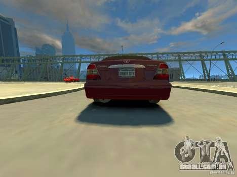 Daewoo Leganza CDX para GTA 4 traseira esquerda vista