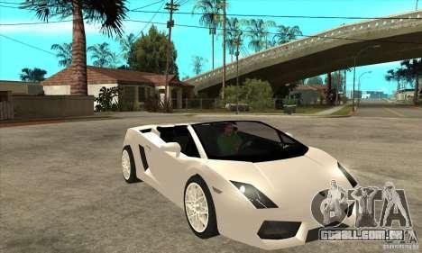 Lamborghini Gallardo Spyder v2 para GTA San Andreas vista traseira