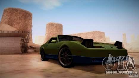 Pontiac Firebird Trans Am para GTA San Andreas vista traseira