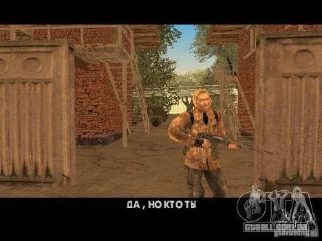 Cicatriz de pele de um stalker para GTA San Andreas terceira tela